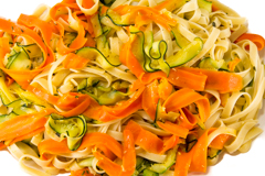 carrot and zucchini pasta