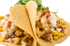 corn and cauliflower tacos