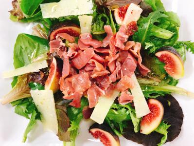 Fig, Ham and Sheep's Cheese Salad   Los Gatos Foodie