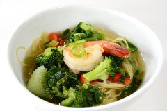 ginger noodles with shrimp and vegetables