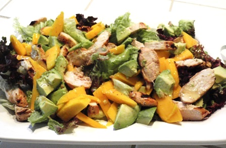Grilled Tequila Chicken Salad with Mango, Avocado, and Cumin Dressing ...