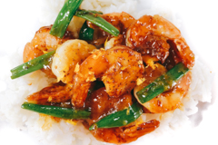 honey-ginger shrimp