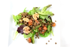 lentil salad with sherry walnut vinaigrette