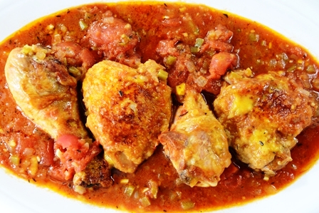spicy-sweet chicken stew