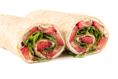 strawberry-arugula wrap
