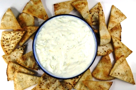 Greek Pita Chips Tzatziki With Pita Chips